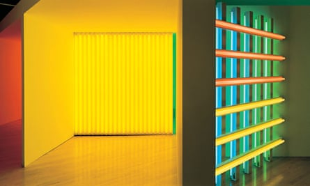 Installation view of The Dan Flavin Art Institute, Bridgehampton, NY