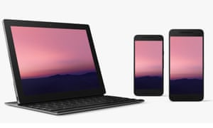 Android N running on a Google Pixel C tablet and Nexus 6P and 5X smartphones