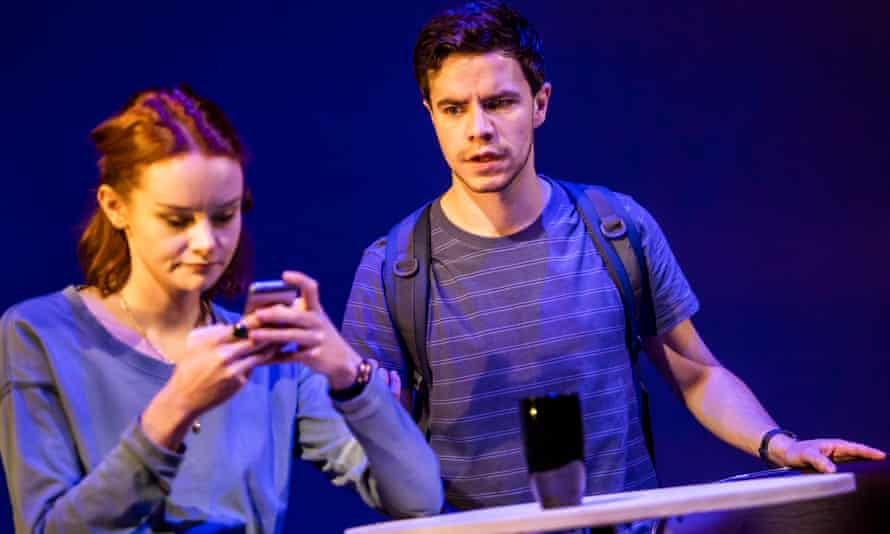 Searingly theatrical ... Rona Morison and Oliver Johnstone in The Haystack.