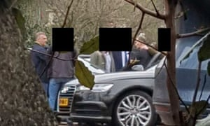 GRU officers being apprehended by Dutch intelligence