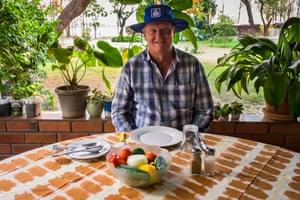Farmer David Gordon, in Lusaka, Zambia