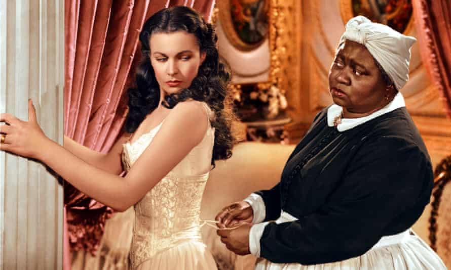Happily serving a white family: Hattie McDaniel in Gone with the Wind.