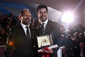 Actor Shahab Hosseini and director Asghar Farhadi