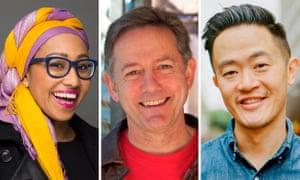 Brisbane-based authors Yassmin Abdel-Magied, Nick Earls and Benjamin Law