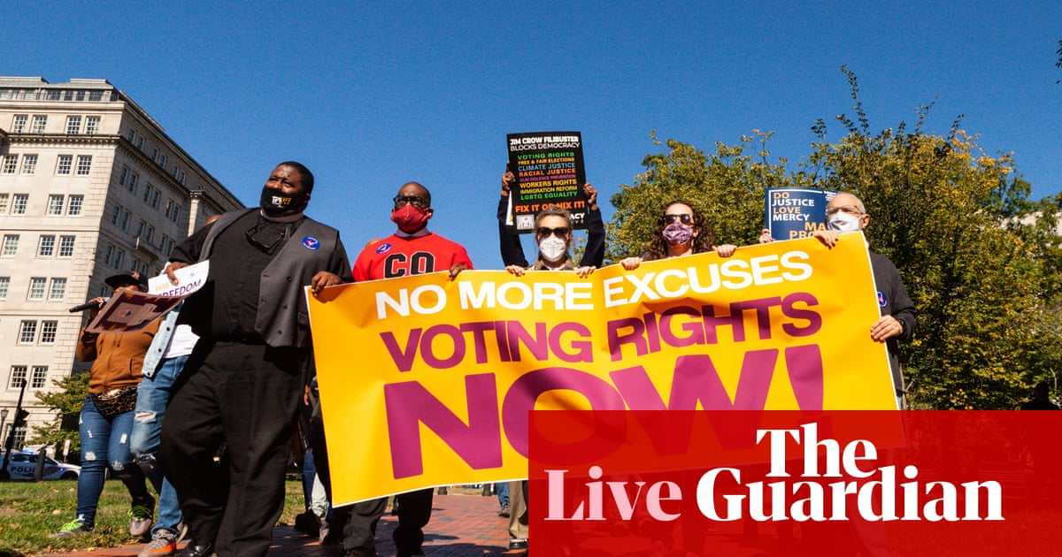 Outrage over stalled US voting rights bill continues as activists say 'we need action' – live