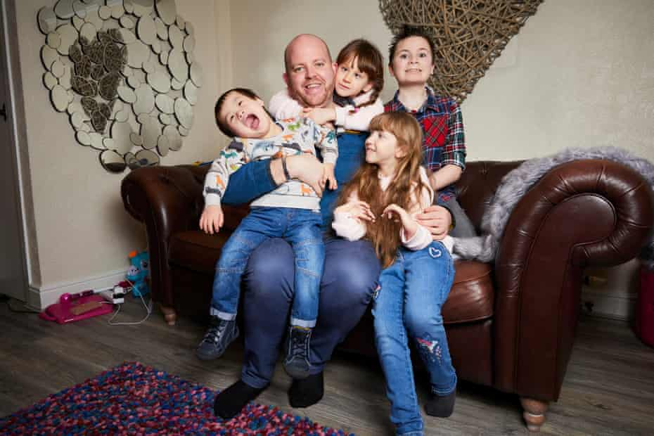 Ben Carpenter and (from left) his children Joseph, Lily, Ruby and Jack