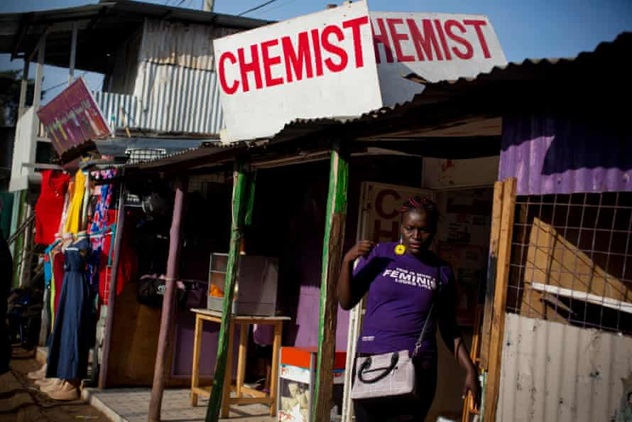 Editar Ochieng leaves a chemist in Kibera having purchased termination pills.