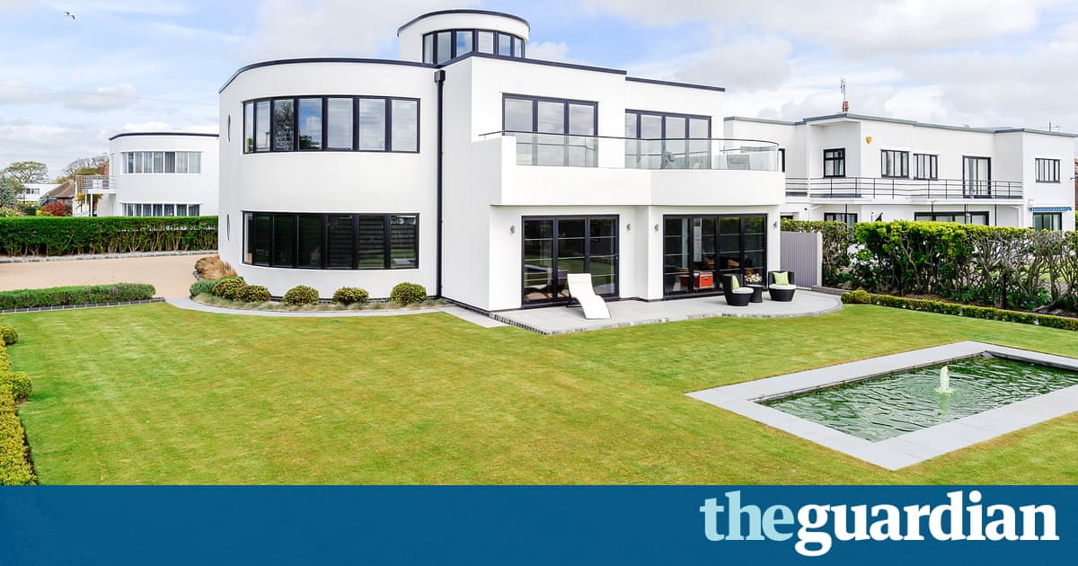 Art deco homes for sale in pictures money the guardian for Modern art deco homes
