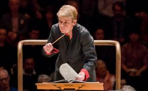 'Ever vigilant': Marin Alsop conducts the London Symphony Orchestra at the Barbican.
