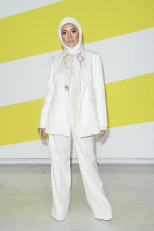 "Milan, Italy"" Neelofa attends the Max Mara show during fashion week"
