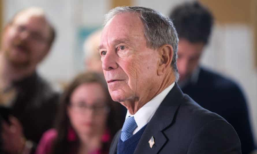 The former New York City mayor Michael Bloomberg tours the WH Bagshaw Company in Nashua, New Hampshire, on Tuesday.
