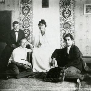 Artist Dimitri Shevardnadze, Mikheil Chiaureli,  Ketevan Maghalashvili  and Lado Gudiashvili