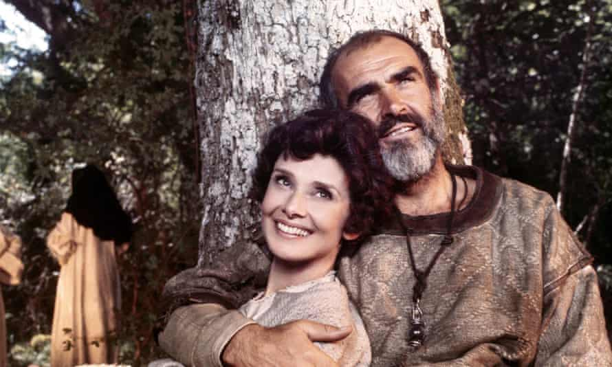 Sean Connery and Audrey Hepburn in Robin and Marian.
