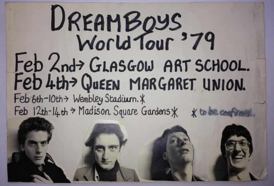 The Dreamboys (L-R): Peter Capaldi, reader John Rogan, Roddy Murray and Iain McCaig