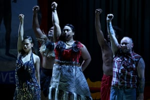 Cast members in Natives Go Wild.