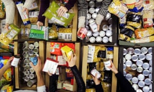 Workers at a Trussell Trust food bank