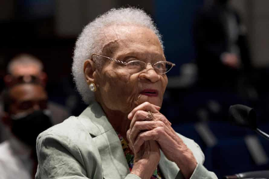 Viola Fletcher, the oldest living survivor of the massacre, testified about her experience before Congress in May.