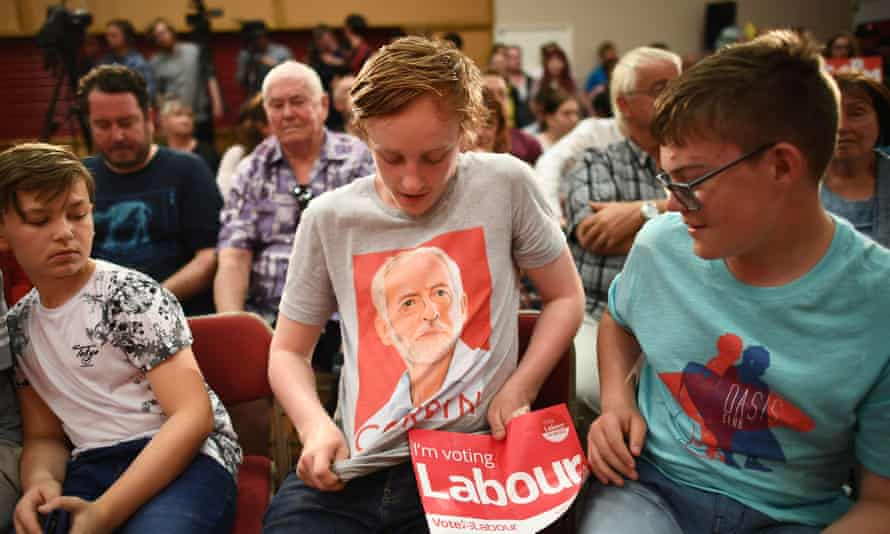 A young Jeremy Corbyn supporter