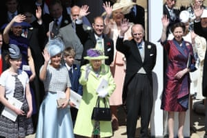 Royals attend the wedding of Prince Harry and Meghan Markle