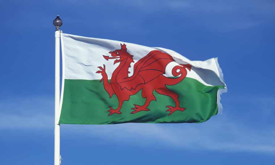 Welsh flag flying