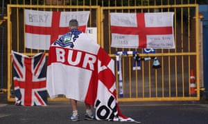 A supporter at Gigg Lane on Tuesday afternoon.