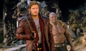 Peter Quill (played by Chris Pratt) and Drax (Dave Bautista) in Guardians of the Galaxy Vol 2.