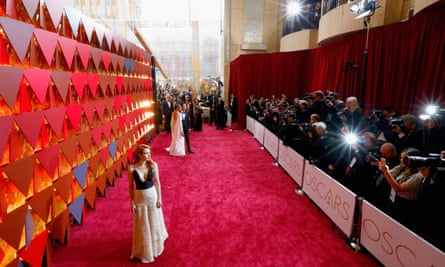 Actor Emma Roberts on the Oscars red carpet.