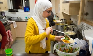 A youth club for young refugees in Birmingham, run by the Children's Society
