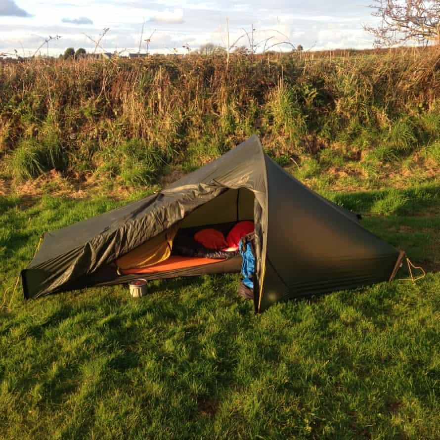 A lightweight tent in a field