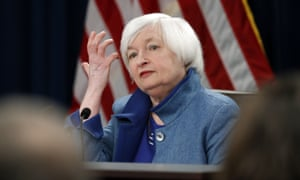 Federal Reserve Board Chair Janet Yellen listens to a reporter's question during today's news conference about the Federal Reserve's monetary policy.