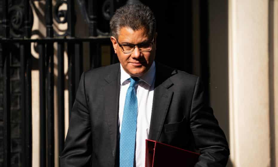The UK business secretary, Alok Sharma