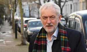 Jeremy Corbyn near his London home on Saturday.