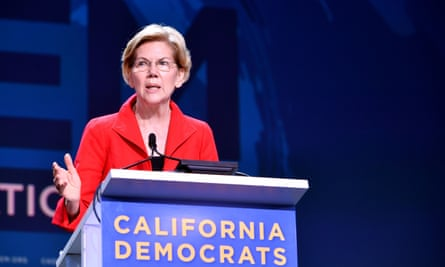 Elizabeth Warren speaks during the California Democratic party convention at Moscone Center in San Francisco.