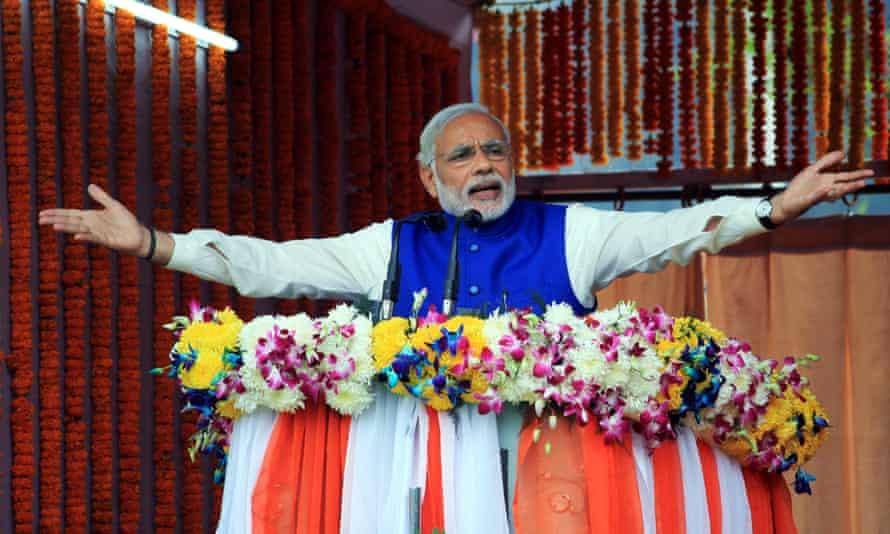 The Indian prime minister, Narendra Modi.