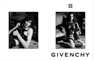 Saffron Vadher and Elias Bouremah in the Givenchy campaign.