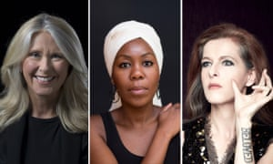 Three speakers at the Melbourne Writer's Festival 2018. From left: Tracey Spicer, Sisonke Msimang and Neko Case.