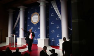 Designs on the White House: the scene looked the part, but did any of the candidates gain the favor of the invisible man who can help them get there?