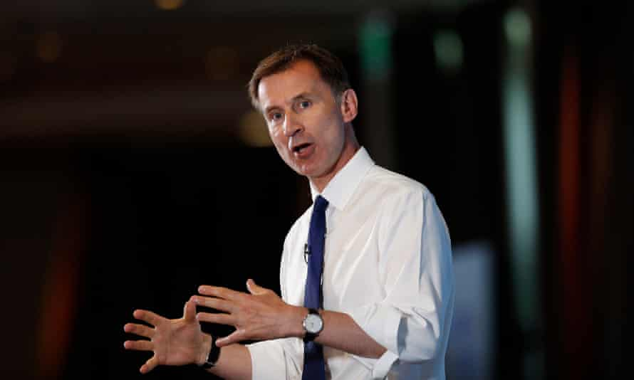 Jeremy Hunt appeared second at the hustings in Nottingham on Saturday.
