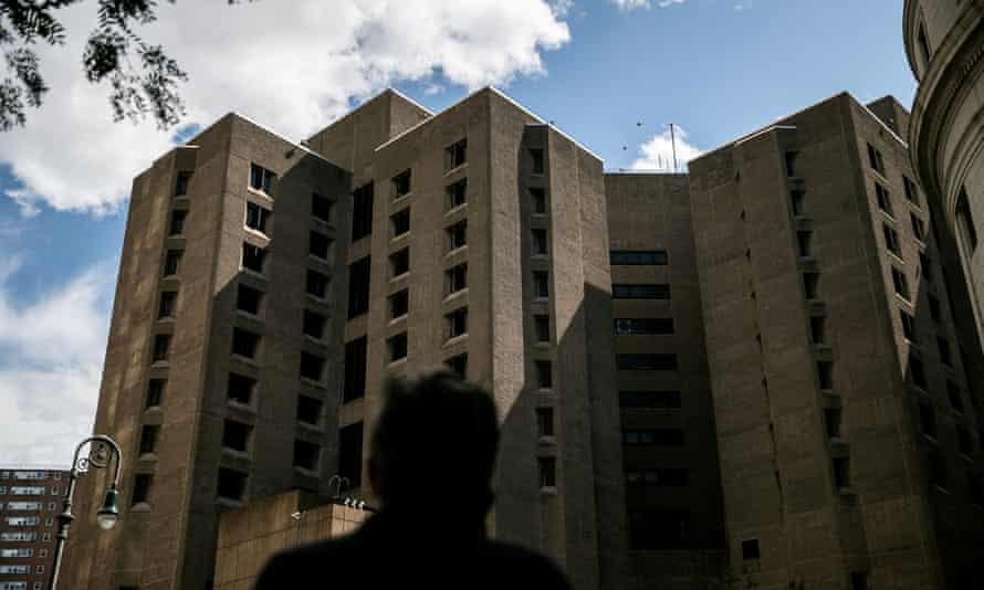 The Metropolitan Correctional Center jail in Manhattan where Jeffrey Epstein was found dead on Saturday morning.