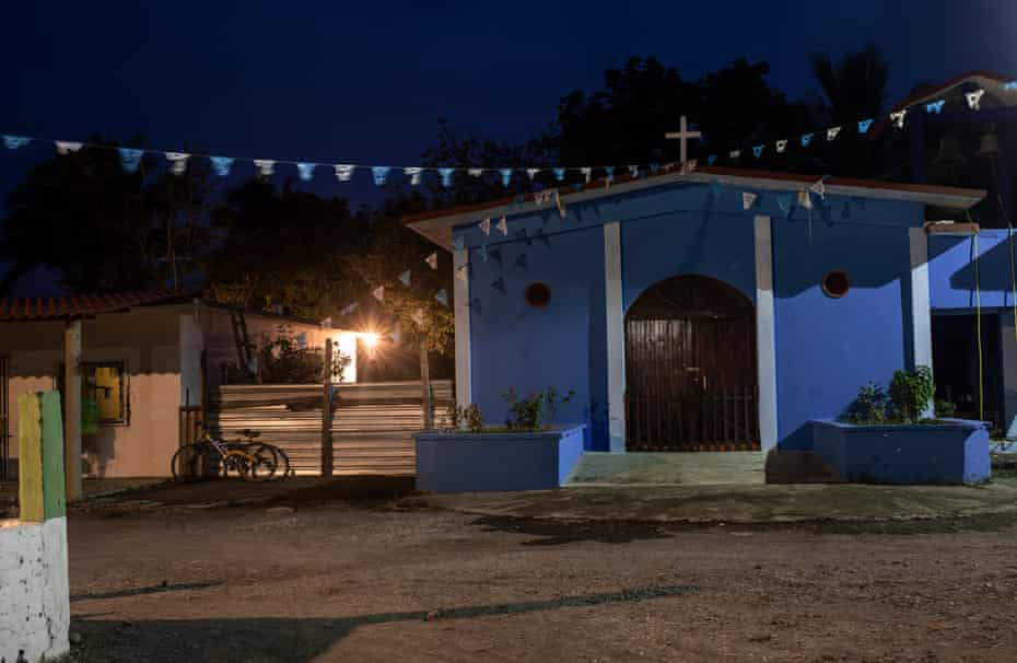 The church of Carretas, Veracruz, Mexico, birthplace of Medel Huesca, Mexican migrant who died by COVID19 in New York. The community lives off agriculture and the sugarcane harvest, although lack of opportunities have forced people of the village to have to migrate to the United States.