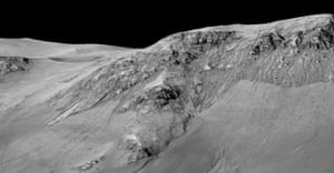 More streaks called recurring slope lineae flowing downhill on Mars formed by contemporary flowing water.