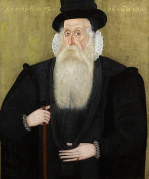 The portrait, by an unknown English hand, depicts Sir John Byron, an important figure in Elizabethan society.