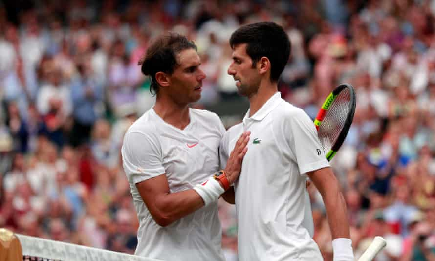 Rafael Nadal after losing an epic five-set semi-final to Novak Djokovic at Wimbledon 2018.