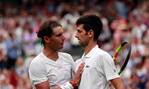 Rafael Nadal and Novak Djokovic, pictured after their semi-final at this year's Wimbledon, have signed up to play an exhibition in Jeddah on 22 December.