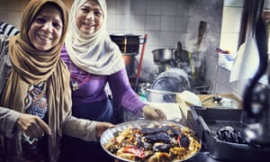 Women cooking at Hubb Community Kitchen