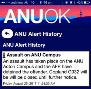 ANU alert