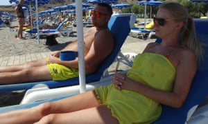 Thomas Cook and Amelia Binch in Rhodes before their wedding