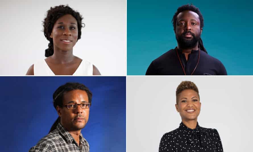 Esi Edugyan, Marlon James, Colson Whitehead and Sara Collins.