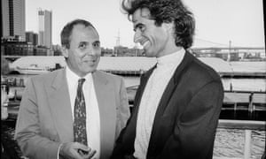 magician David Copperfield on the Spirit of New York, 1991, the year he was a judge