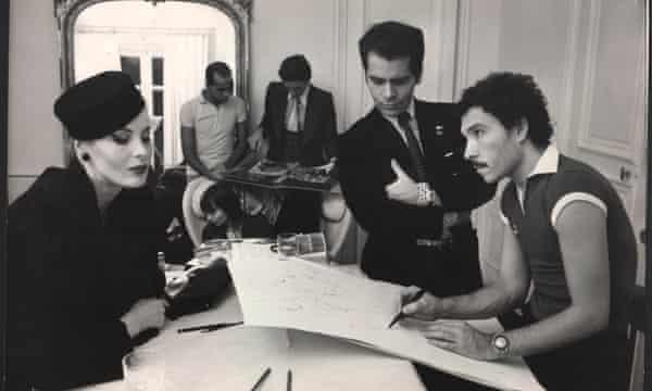 Eija Vehka Ajo, Juan Ramos, Jacques de Bascher, Karl Lagerfeld and Antonio Lopez, Paris, 1973.